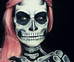 contest, makeup, and skeleton image