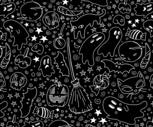 background, black and white, and candy image