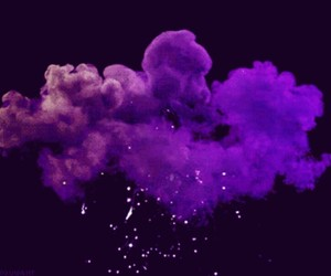 gif, clouds, and purple image