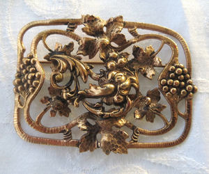 etsy, art nouveau brooch, and vintage jewelry image