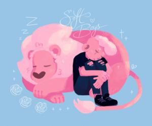 lars, lion, and steven universe image