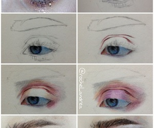 art, eyebrows, and step by step image