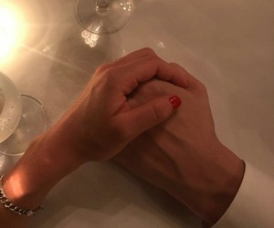couple and hand holding image