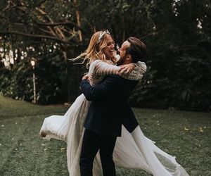 couples, wedding, and marriage image