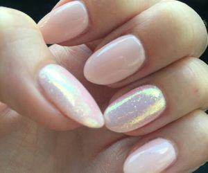 nails and hologram image