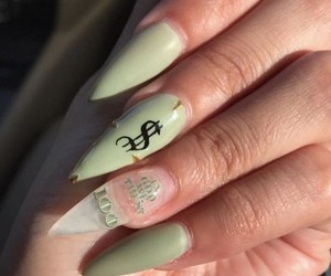 nails, green, and money image