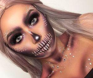 Halloween, photography, and halloween makeup image