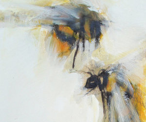 art, artist, and bees image
