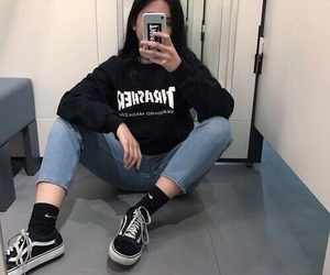girl, fashion, and vans image