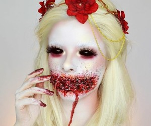 art, makeup, and october image