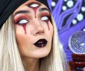 fortune teller, Halloween, and halloween makeup image