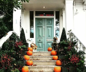 fall, house, and pumpkin image