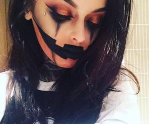 halloween makeup, Halloween, and makeup image