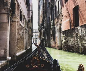 boat, italy, and canals image