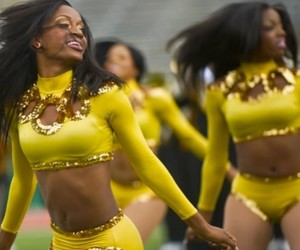 dance, gold, and yellow image