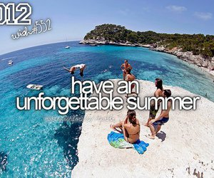 summer, unforgettable, and beach image