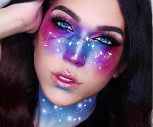 galaxy, makeup, and Halloween image