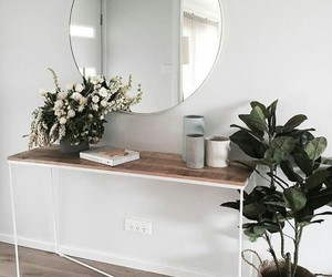 home, mirror, and plants image