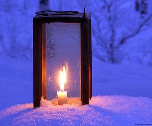 snow and night image