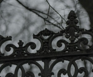 dark, fence, and goth image