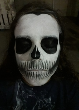black, makeup, and skull image