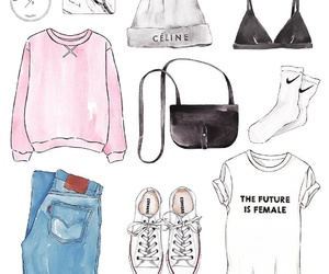 bralette, celine, and clothes image