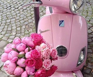 inspiration, scooter, and pink image