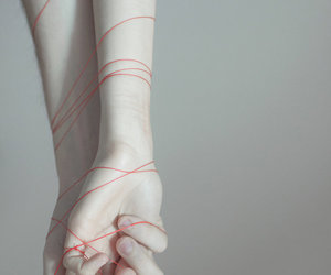 hands, pale, and red image