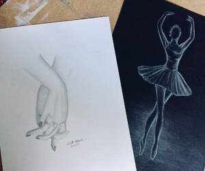 art, ballet, and couple image