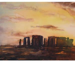 etsy, stonehenge, and fine art print image