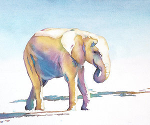 animal art, etsy, and watercolor image