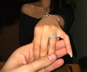 couple, ring, and married image