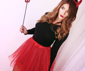 costume, Devil, and Halloween image