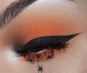 goth, makeup, and orange image