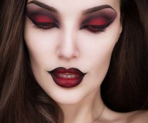 Devil, Halloween, and makeup image
