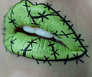 green, Halloween, and lips image
