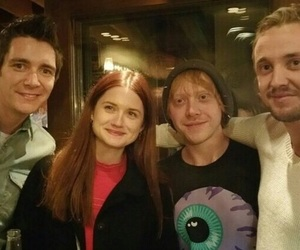 harry potter, tom felton, and rupert grint image