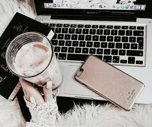 coffee, iphone, and phone image