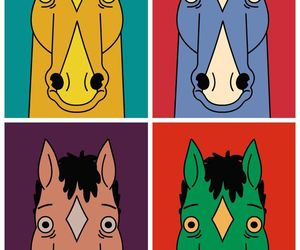 bojack, bojack horseman, and colorful image