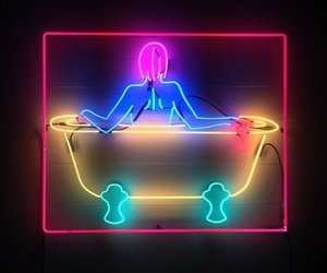 color, lights, and neon image