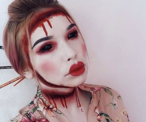 Halloween, makeup, and whi image