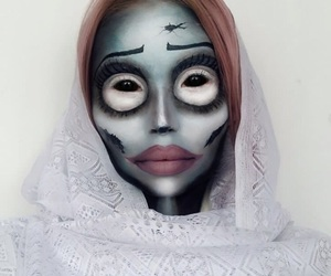 corpse bride, Halloween, and makeup image