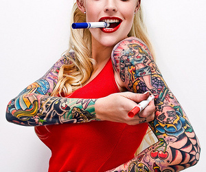 tattoo and blonde image