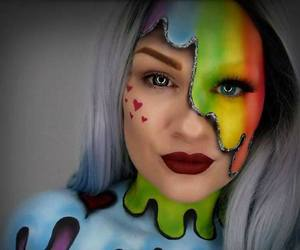 contest, unique, and halloween makeup image