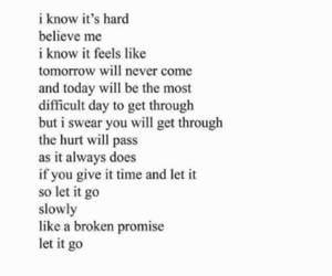 hurt, let go, and poem image