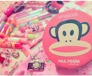 paul frank, pink, and lip smacker image