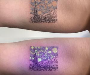 tattoo, starry night, and art image