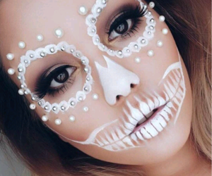 costume, diamonds, and make up image