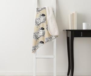 blanket, cozy, and cream image
