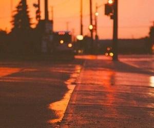 street, orange, and light image
